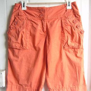 Anthropoloige Ett Twa Coral Bermuda Shorts Size 6